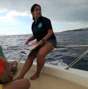 Guia en barco